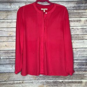 Banana Republic Sheer button down blouse XS